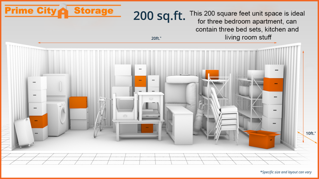 sizes guide for self storage units